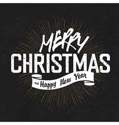 vintage lettering christmas blackboard vector image vector image