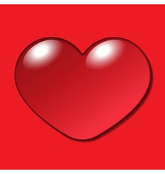 Water heart drop on red background vector