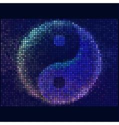 Ying yang symbol of harmony and balance abstract vector