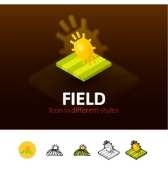 Field icon in different style vector