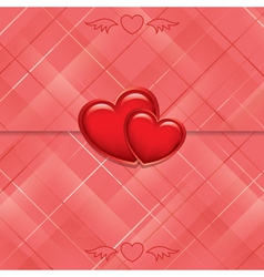 Red card sealed with hearts vector