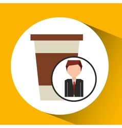 Businessman character concept cup coffee break vector