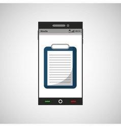Smartphone medicine list report application icon vector