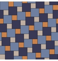 blue and orange tiles seamless pattern vector image