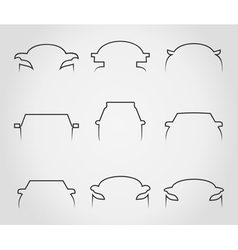 Cars outline icons vector