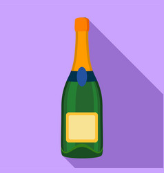 champagne bottle icon flat style vector image