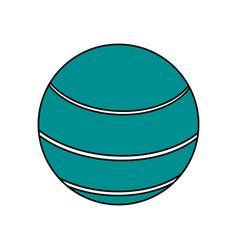 ball sport blue flat vector image