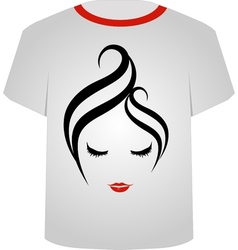 T shirt template- pretty face vector