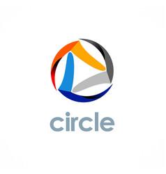 Circle technology logo vector