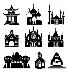 Church silhouettes vector