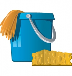 Cleaning bucket vector