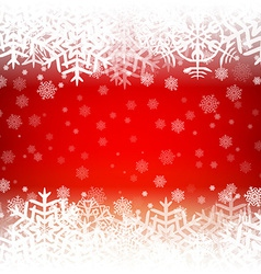 Christmas background with snowflakes and lights vector