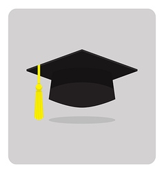 Flat icon graduation cap vector