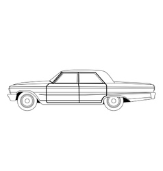 Old car sketch vector