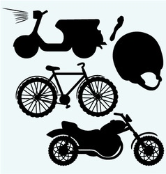 Two-wheeled vehicles vector