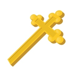 Christian cross cartoon icon vector