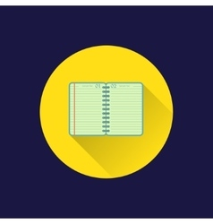 Flat diary icon vector