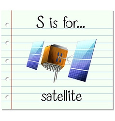 Alphabet s is for satellite vector