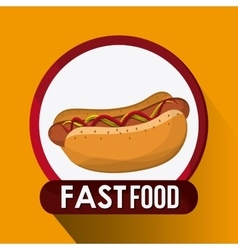 Fast food design menu icon colorfull vector