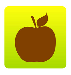 apple sign brown icon at vector image vector image