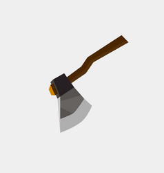 axe icon flat isolated sign symbol danger blade vector image vector image