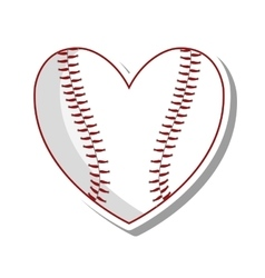 baseball ball sport isolated icon vector image vector image