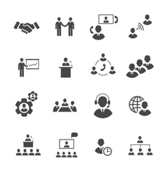Business people online meeting strategic vector image vector image