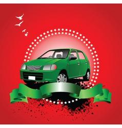 Car advertising vector