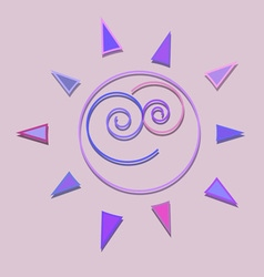 Cartoon sun kid shiny icon vector image