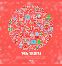 christmas snow globe concept vector image