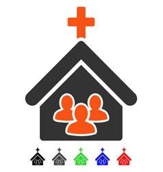 Church people flat icon vector