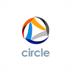 Circle technology logo vector