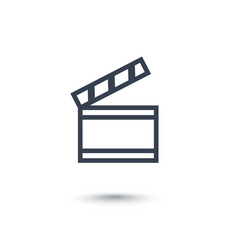 Clapperboard icon on white vector