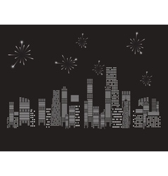 fireworks city vector image