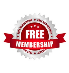 Free membership button vector