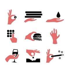Hand icons vector