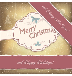 happy holidays vintage vector image