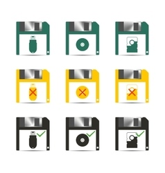 Icons save vector image vector image