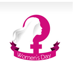 international women day card icon vector image vector image