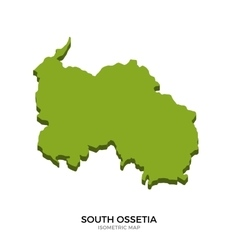 Isometric map of South Ossetia detailed vector image vector image