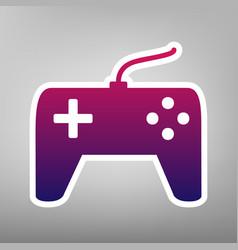 Joystick simple sign purple gradient icon vector