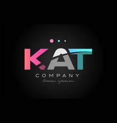 kat k a t three letter logo icon design vector image