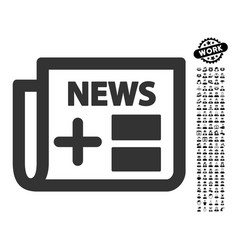 Medical newspaper icon with men bonus vector