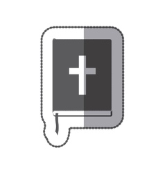 middle shadow sticker grayscale with holy bible vector image vector image