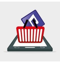Mobile music app shop vector