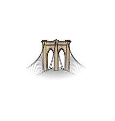 New-york city travel nyc icon american landmark vector