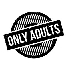 Only adults rubber stamp vector