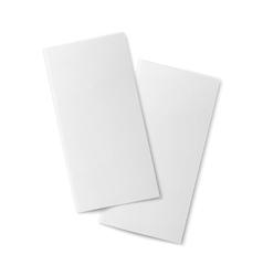 Pair of blank bifold paper brochures vector