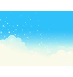 Shiny cloudscape vector image vector image