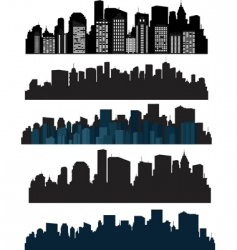 Silhouette cities vector